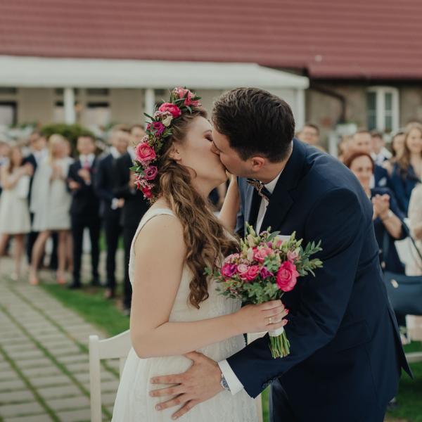 Ola iKarol - ślub nadjeziorem